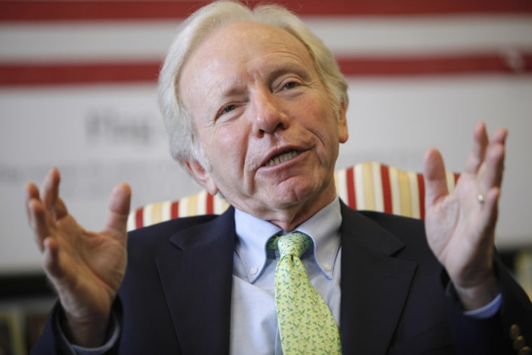 Sen. Joseph Lieberman, I-Conn., during an interview in Washington, July 24, 2009.