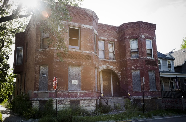 An abandoned home in Englewood, on the South side of Chicago, a declining neighborhood that went into free fall after the housing crisis.