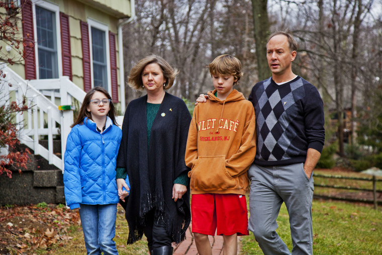 Mark Barden (right), Director of Advocacy at Sandy Hook Promise, with his wife Jackie, daughter Natalie and son James. The Barden family lost their youngest son Daniel in the Sandy Hook shooting.