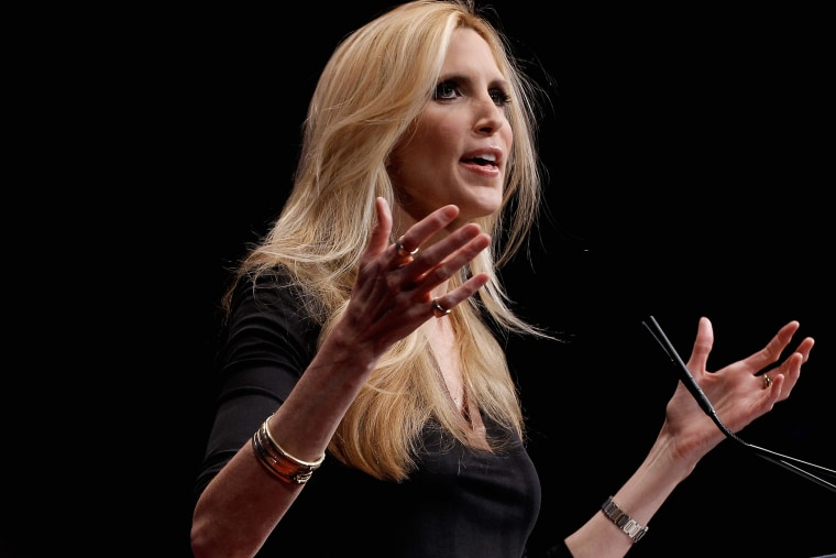 Conservative author and pundit Ann Coulter delivers remarks to the Conservative Political Action Conference, Feb. 10, 2012 in Washington, D.C.