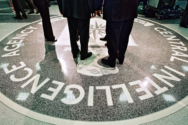 The seal of the Central Intelligence Agency is seen in Langly, Va.