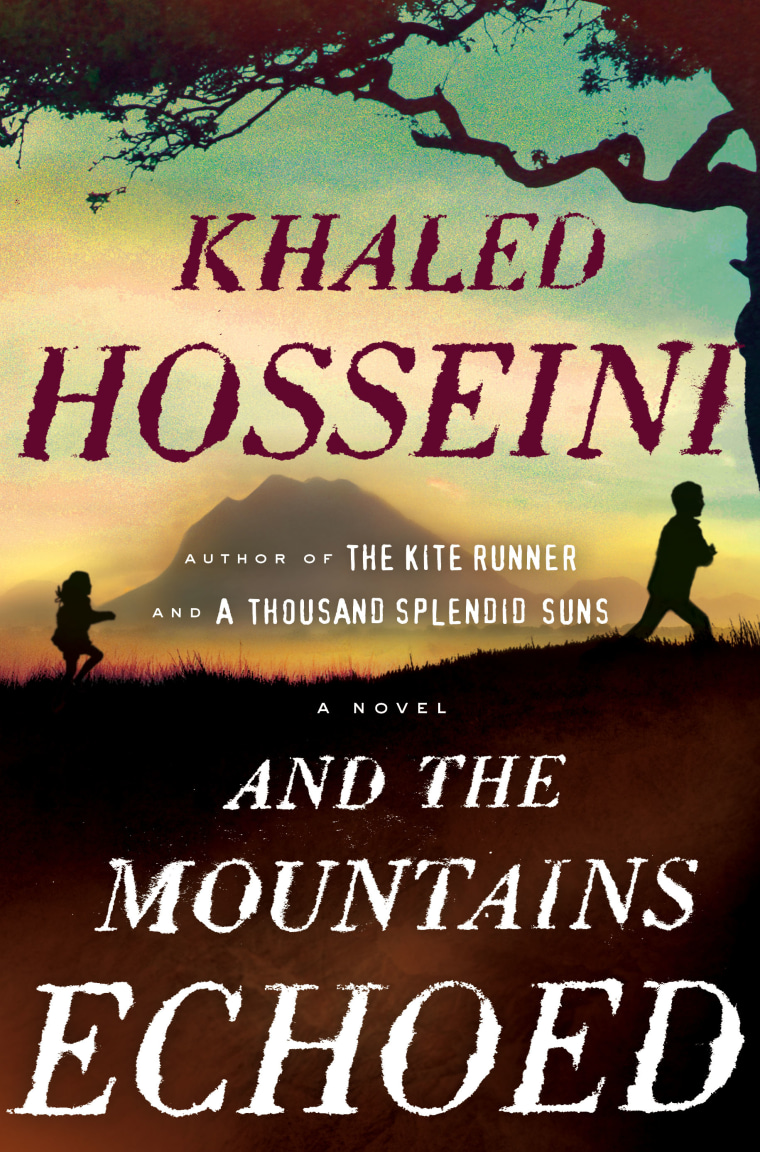 """This book cover image released by Riverhead Books shows \""""And the Mountains Echoed,\"""" by Khaled Hosseini."""