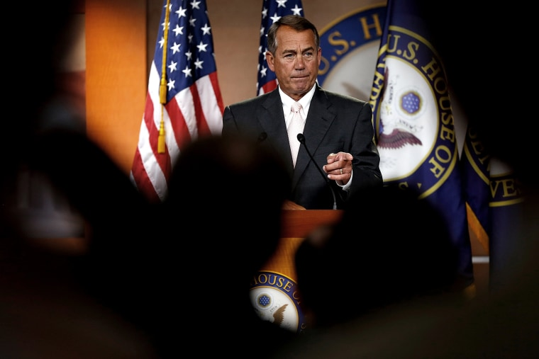 Image: John Boehner Holds Press Briefing At The Capitol