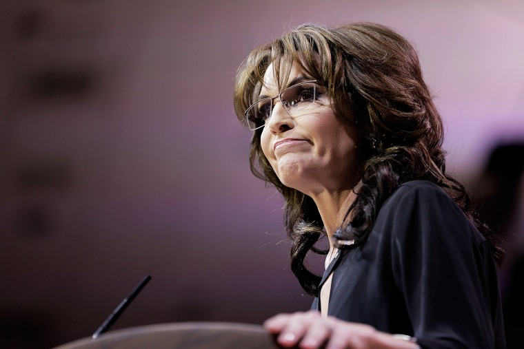 Conservative pundit, television personality and former vice presidential candidate Sarah Palin speaks during the 41st annual Conservative Political Action Conference, March 8, 2014, in National Harbor, Md.
