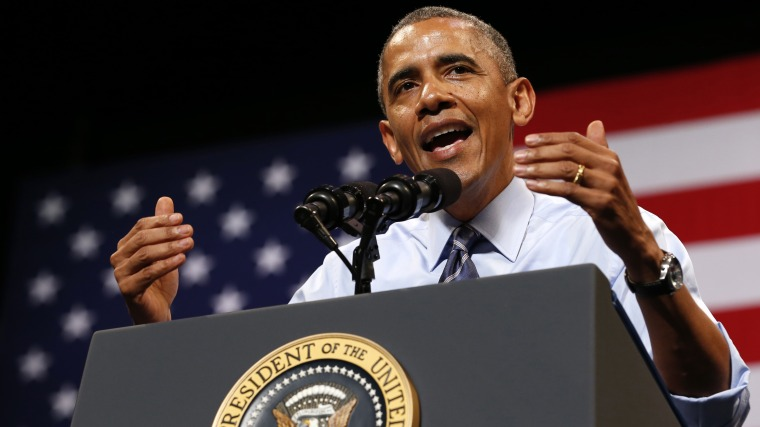 U.S. President Barack Obama speaks about the economy during a visit to Austin, Texas  July 10, 2014.