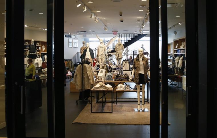A J.Crew store is seen in Manhattan, New York
