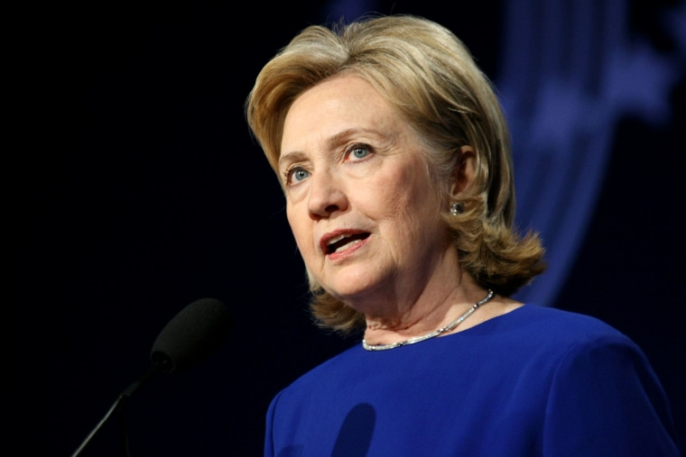 Hillary Clinton speaking in Denver, Colorado on Jun 24, 2014.