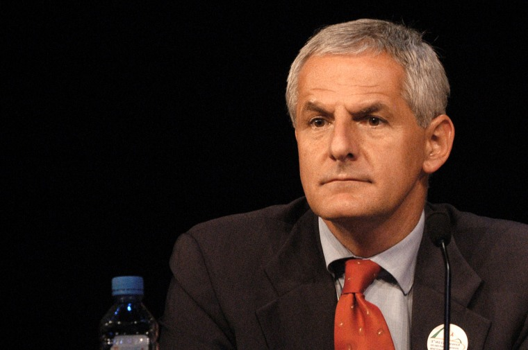 Joep Lange, pictured on July 14, 2003, is one of the dozens of AIDS researchers and prevention advocates that are reported to be among the victims of the Malaysia Airlines crash.