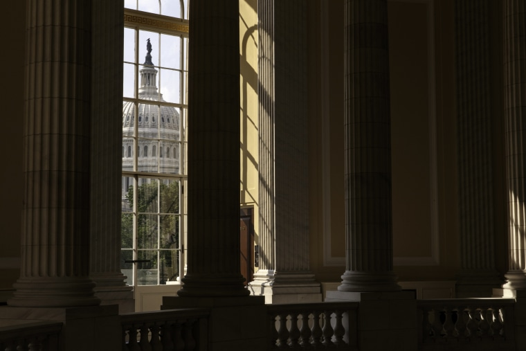 The Capitol is seen from the Cannon House Office Building in Washington, on June 9, 2014.