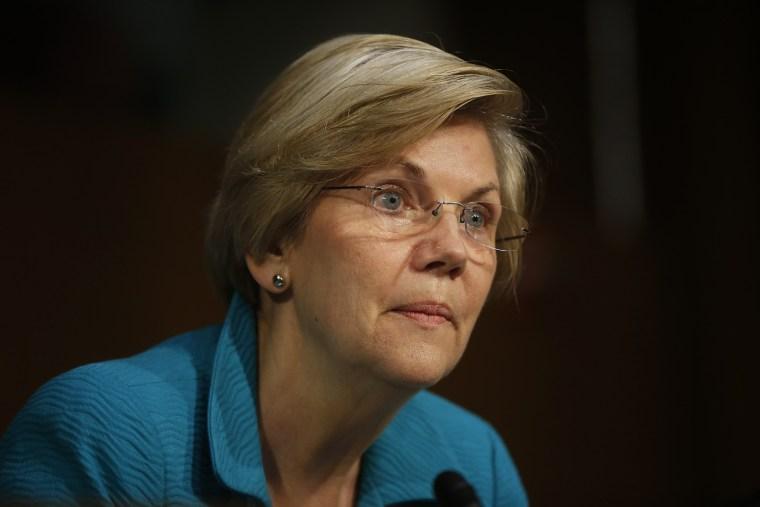 Sen. Elizabeth Warren, D-Mass., speaks during a hearing on Capitol Hill in Washington, D.C., June 25, 2014.