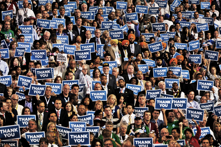 Scenes around the Democratic National Convention at Time Warner Cable Arena on September 6, 2012 in Charlotte, North Carolina.