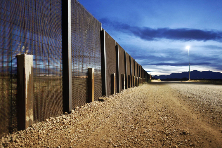 The Arizona-Mexico border fence near Naco, Arizona, March 29, 2013.
