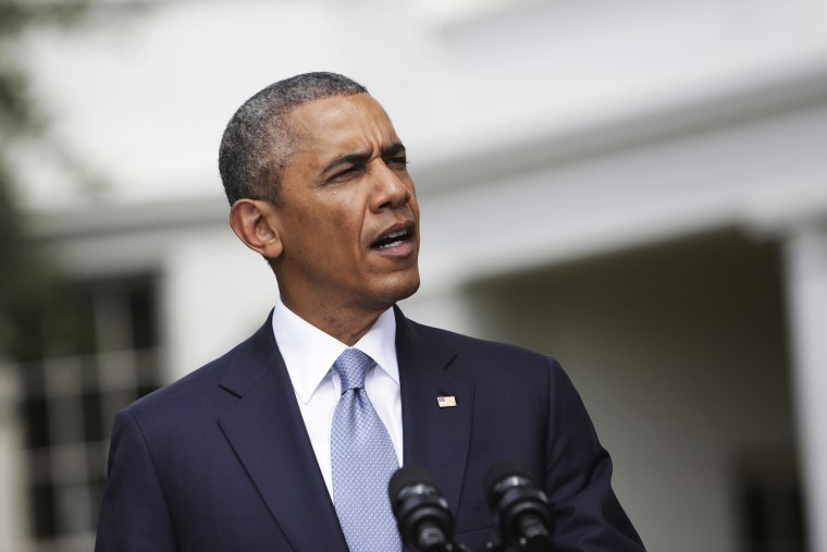 United States President Barack Obama makes a statement at The White House, July 21, 2014.