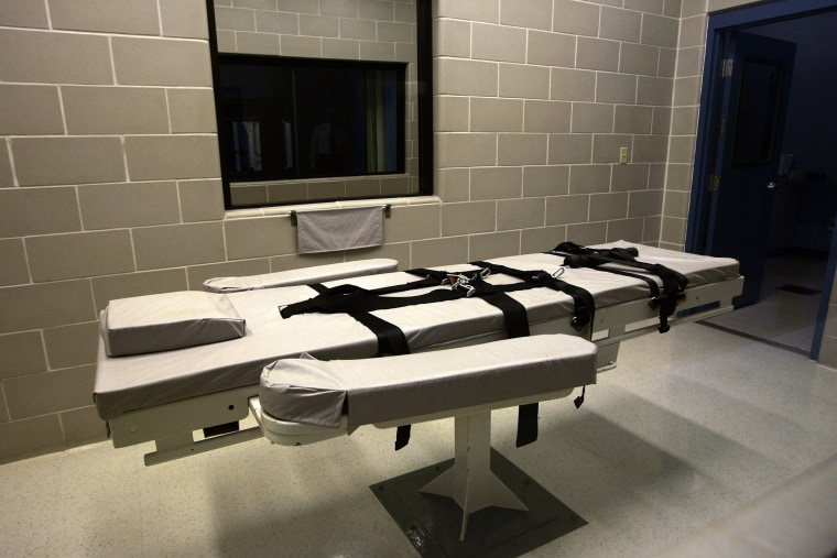 The lethal injection chamber at Eyman Prison in Phoenix, Arizona.