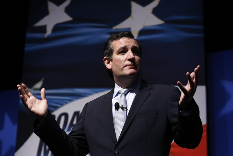 """Senator Ted Cruz (R-TX) delivers remarks at the Faith & Freedom Coalition \""""Road to Majority\"""" policy conference in Washington, June 19, 2014."""