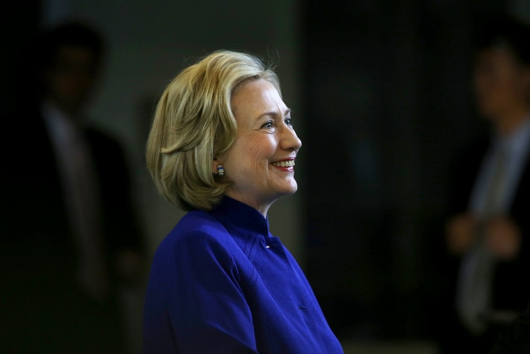 Hillary Clinton speaks during an event at the Children's Hospital Oakland Research Institute on July 23, 2014 in Oakland, California.