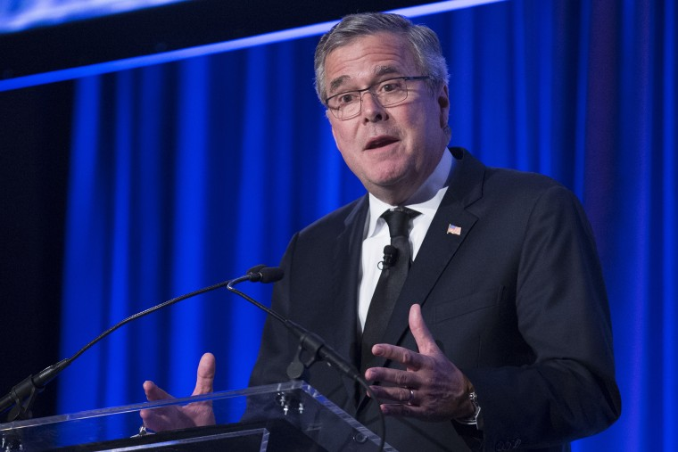 Jeb Bush speaks at the Manhattan Institute for Policy Research, May 12, 2014, in New York.