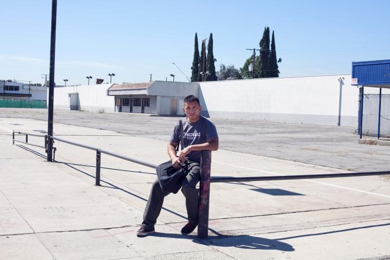 Sergio Flores in El Monte, Calif. on July 23, 2014