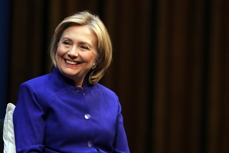 Hillary Clinton speaks during the presentation of the German translation of her book 'Hard Choices' at the Staatsoper in the Schiller Theater on July 6, 2014 in Berlin, Germany.