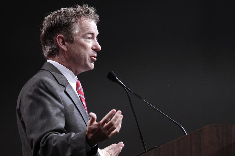 Senator Rand Paul (R-KY) speaks at the 2014 National Urban League Conference July 25, 2014  in Cincinnati, Ohio.