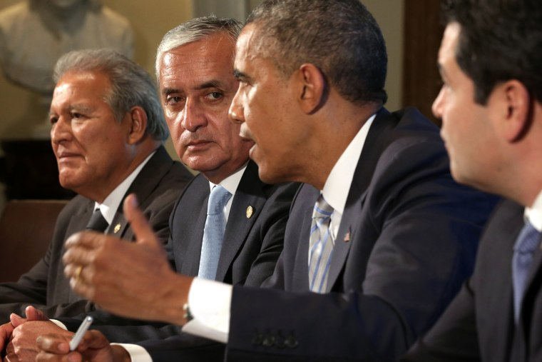 Obama Meets With Leaders Of Honduras, Guatemala And El Salvador At White House