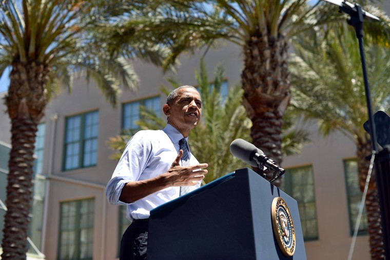 President Barack Obama speaks on economy at Los Angeles Trade-Technical College in Los Angeles, Calif., on July 24, 2014.