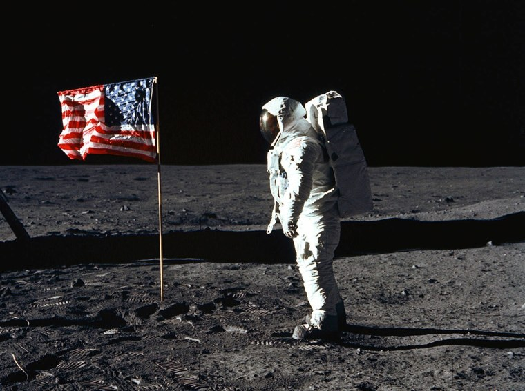 Buzz Aldrin on the moon. (Photo credit: HO/AFP/Getty Images)