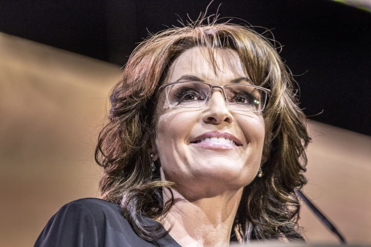 Sarah Palin addresses the Conservative Political Action Conference in National Harbor, MD on March 8, 2014.