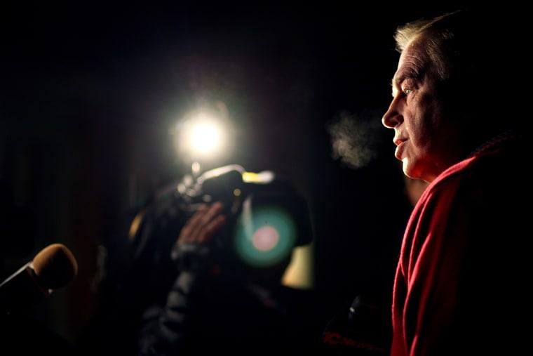 Former Ohio governor Ted Strickland talks to the media in Columbus, Ohio, Nov. 2, 2010.