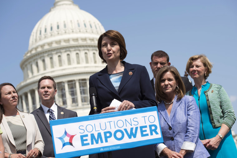 Rep. Cathy McMorris Rodgers, R-Wash, speaks about empowering women, July 30, 2014.