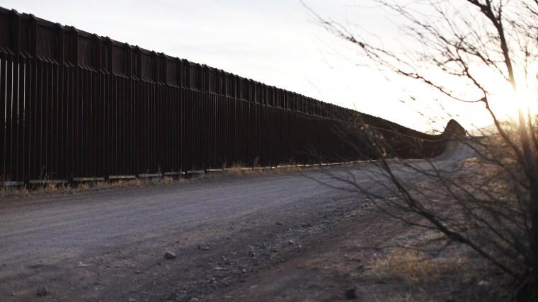 The Arizona-Mexico border fence near Naco, Arizona, March 29, 2013.