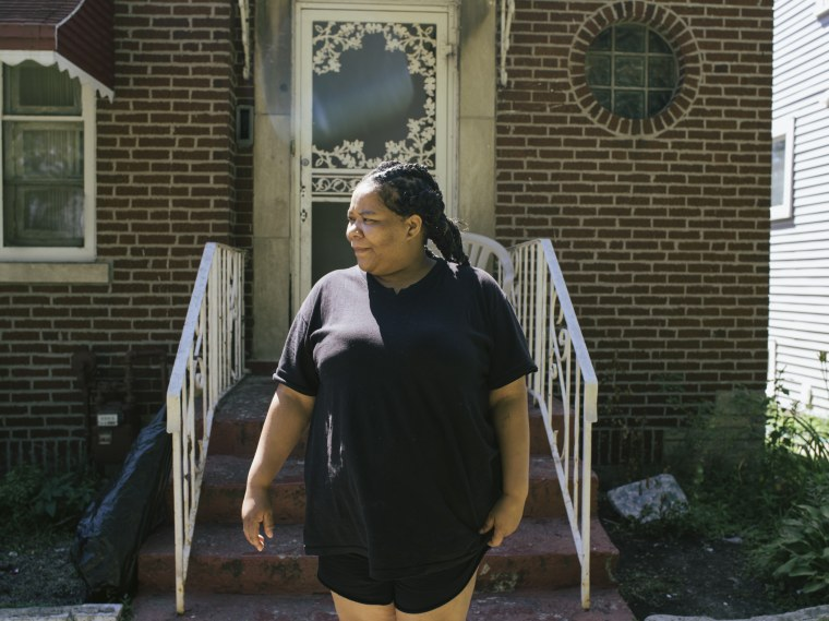 Keauna Wise at her home in the Roseland neighborhood of Chicago, July 23, 2014.