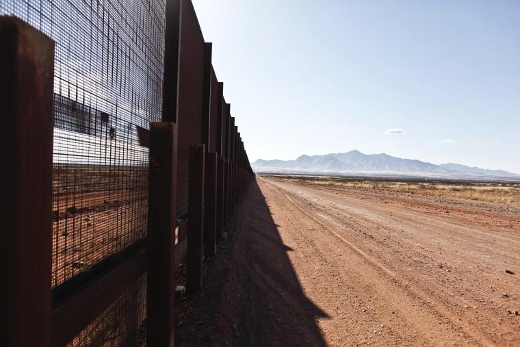 The Arizona-Mexico border fence near Naco, Ariz., March 29, 2013.