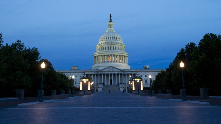 The US Capitol is seen at sunrise in Washington, D.C., Oct. 8, 2013.