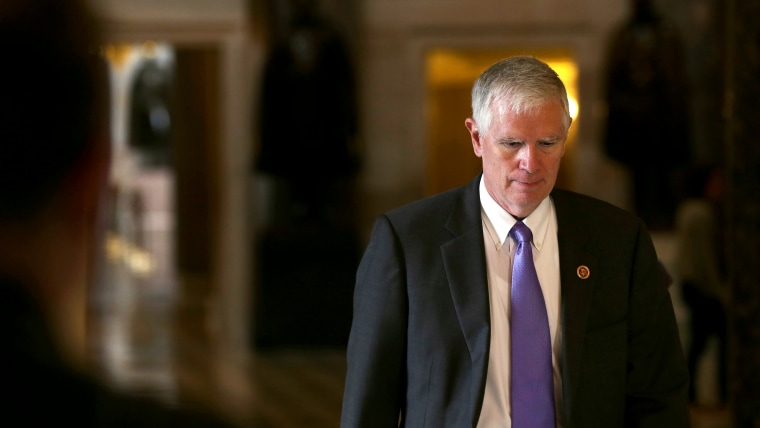 U.S. Rep. Mo Brooks on his way to the House Chamber for a procedural vote on the House floor September 28, 2013 on Capitol Hill in Washington, DC.