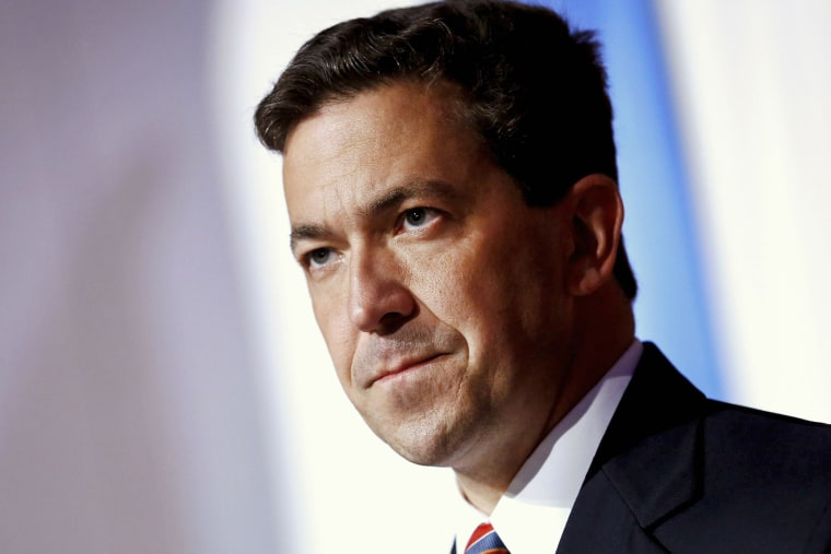 Chris McDaniel delivers a concession speech in Hattiesburg, Mississippi, June 24, 2014.
