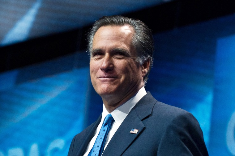 Mitt Romney arrives to speak speaks at CPAC in National Harbor, Maryland, March 15, 2013.