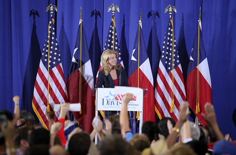 Texas State Sen. Wendy Davis (D) announces her intentions to run for Texas Governor, Haltom City, Texas, October 3, 2013.