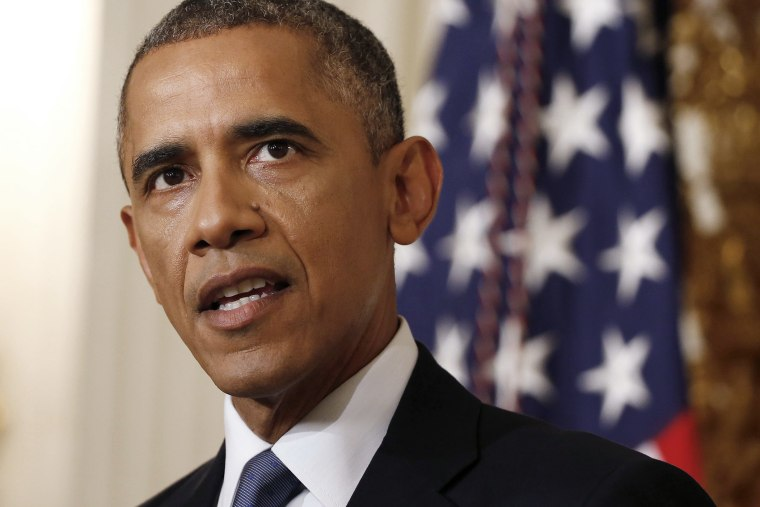 U.S. President Barack Obama makes a statement about Iraq at the White House in Washington