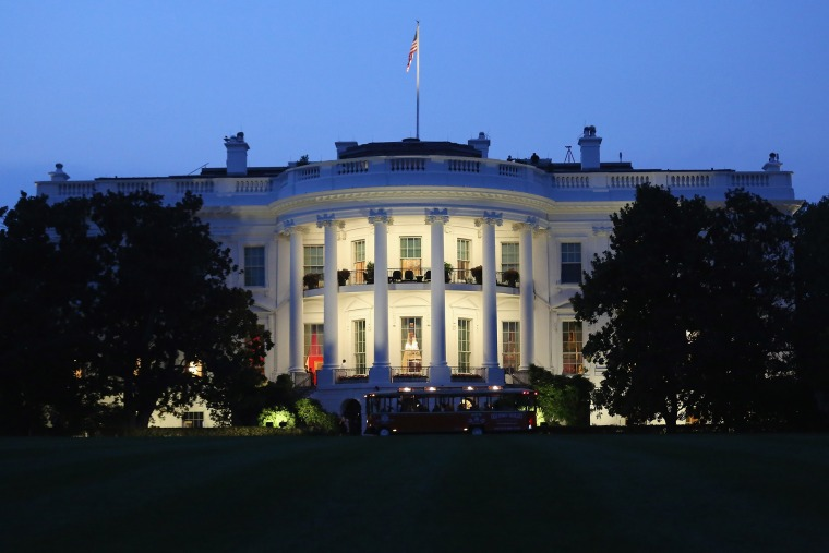 The White House seen from the South Lawn Aug. 5, 2014 in Washington, D.C.