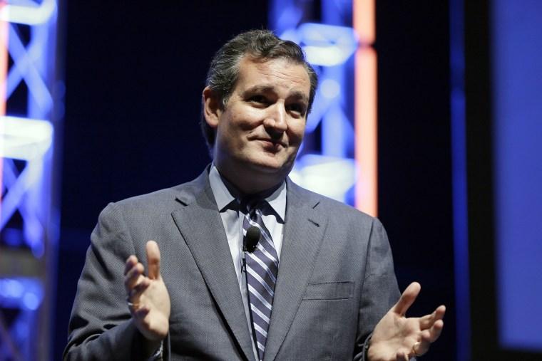U.S. Sen. Ted Cruz, R-Texas, speaks during The Family Leadership Summit, Aug. 9, 2014, in Ames, Iowa.