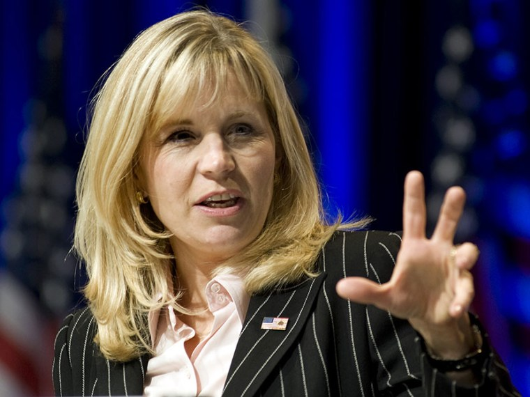 Liz Cheney addresses the Conservative Political Action Conference in Washington.