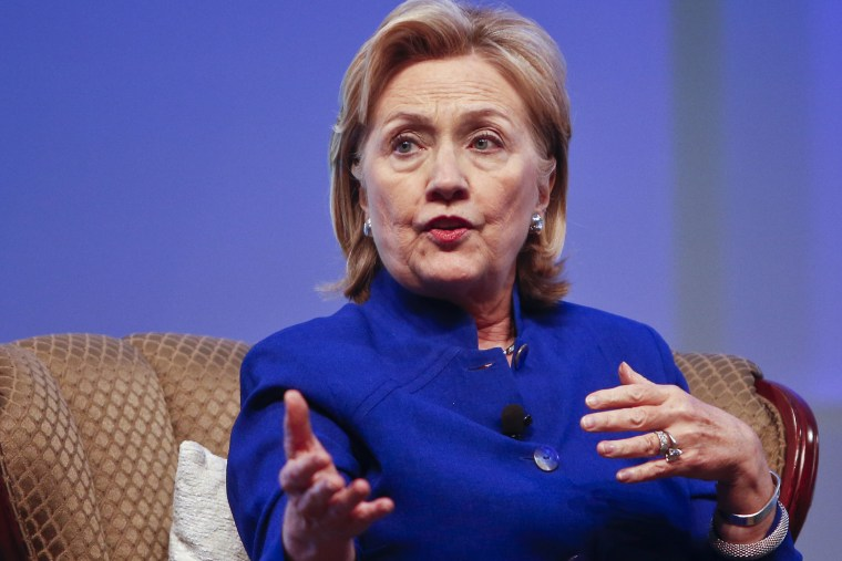 Former Secretary of State Hillary Rodham Clinton speaks at a convention in San Diego, June 25, 2014.