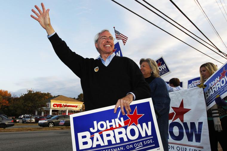Rep. John Barrow campaigns in Augusta, Ga., Nov. 6, 2012.