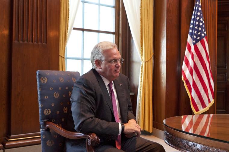 Missouri Gov. Jay Nixon in his office in Jefferson City, Mo., May 5, 2014.