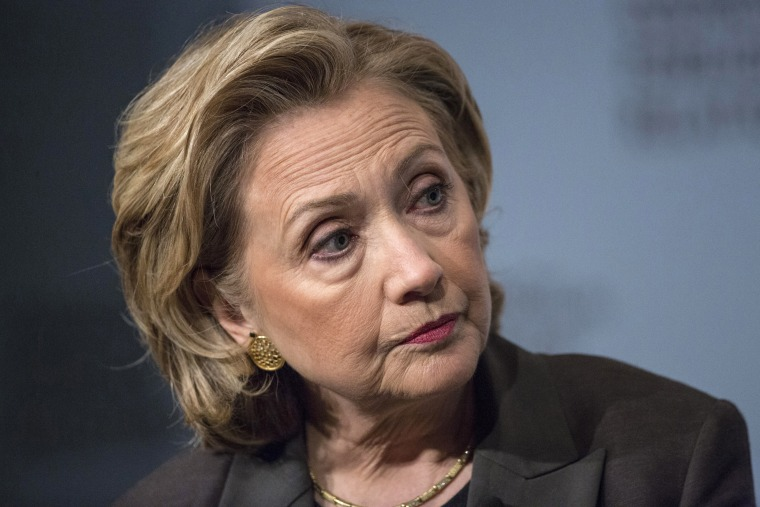 """Former U.S. Secretary of State Hillary Clinton participates in """"A Conversation with Hillary Rodham Clinton"""" at the Council on Foreign Relations (CFR) in Manhattan, June 12, 2014."""