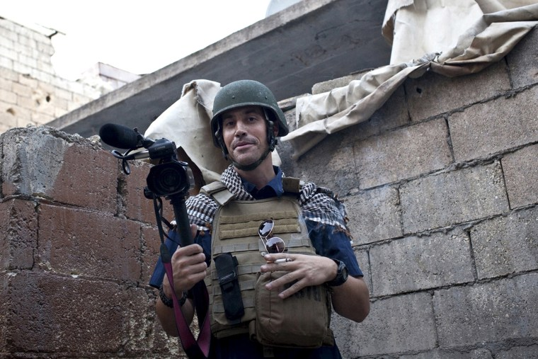 Journalist James Foley is seen in Aleppo, Syria, Nov. 2012.