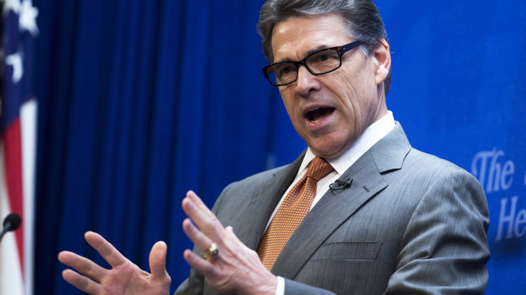 Texas Governor Rick Perry speaks during an event at the Heritage Foundation in Washington, DC, August 21, 2014.