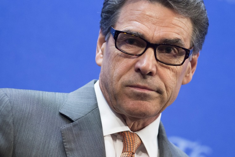 Texas Governor Rick Perry speaks at an event at the Heritage Foundation in Washington, DC, August 21, 2014.