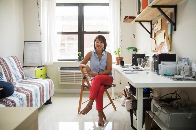 Poy Winichakul at her home office in the Bedford-Stuyvesant neighborhood of Brooklyn, N.Y. on Aug. 21, 2014.